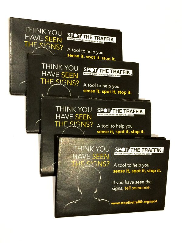 Signs of trafficking flexi-card reverse