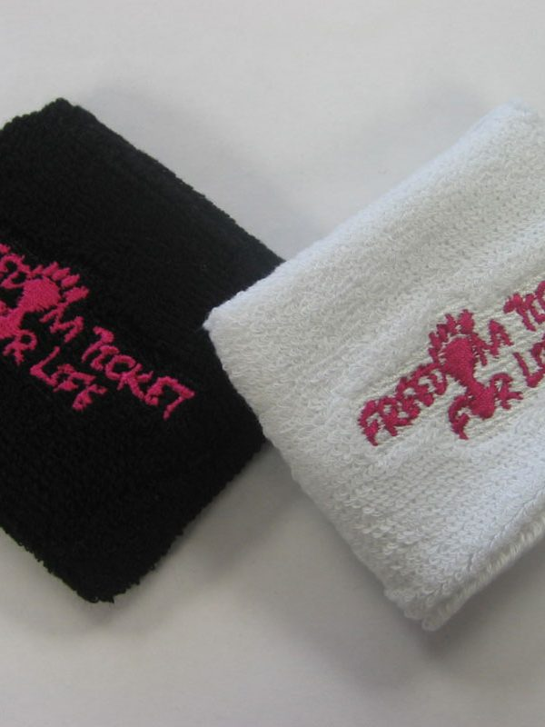 Freedom ticket for life sweatbands