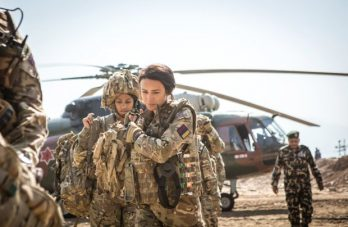 actress-from-our-girl-michelle-keegan-in-disaster-zone-surrounded-by-army-helicopter-in-backdrop